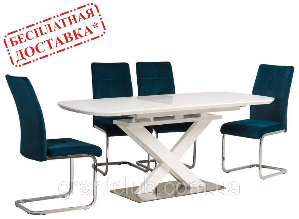 Стол TML-500 белый матовое стекло 140/180х80 (бесплатная доставка)