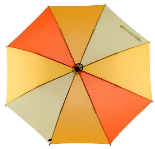 Яркий механический зонт-трость с большим куполом EuroSCHIRM teleScope Handsfree 1H16-CW3/SU17681 желтый