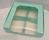 Коробка для десертов 200*200*60 тиффани с окном