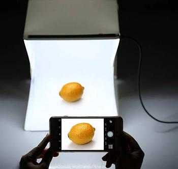 Фотобокс лайтбокс с Led подсветкой для предметной съемки 30х30