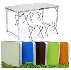 Стол для пикника усиленный раскладной с 4 стульями Grand Picnic GP-4282