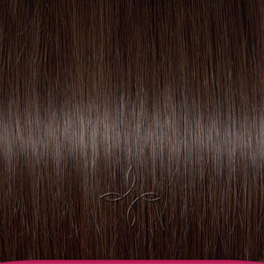 Натуральные Азиатские Волосы на Трессе 50 см 100 грамм, Шоколад №02