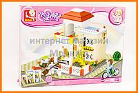 Конструктор Sluban Розовая мечта, загородный дом (дача) с минифигурками, арт. M38-B0533