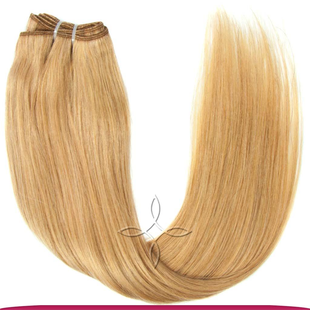Натуральные Азиатские Волосы на Трессе 50 см 100 грамм, Светло-Русый №16