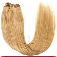 Натуральные азиатские волосы на трессе 50 см 100 грамм, Русый светлый №16