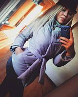 Куртка женская зимняя синтепон 200 серая СКЛАД