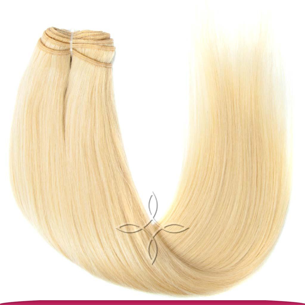 Натуральные Азиатские Волосы на Трессе 50 см 100 грамм, Блонд №613