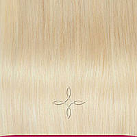 Натуральные азиатские волосы на трессе 50 см 100 грамм, Светлый блонд №60