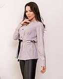 Блузи  SA-166 S сірий, фото 2