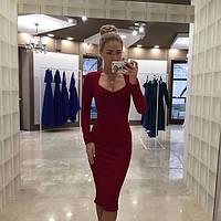 Женское Шикарное Платье Трикотажное с декольте
