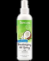 """Tropiclean дезодоруючий ароматизований спрей """"Лайм і кокос"""" 236мл"""