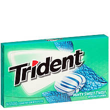 Жевательная резинка Trident Minty sweet twist Сладкая мята 14 шт