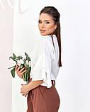 Молочная блуза с воланами на рукавах, фото 2