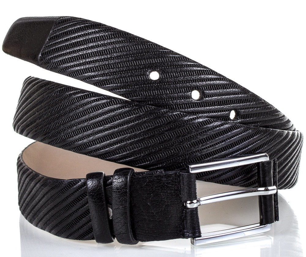 Элегантный ремень мужской кожаный MYKHAIL IKHTYAR MI2420