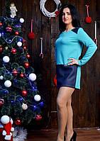 Элегантное платье с длинным рукавом красивого цвета
