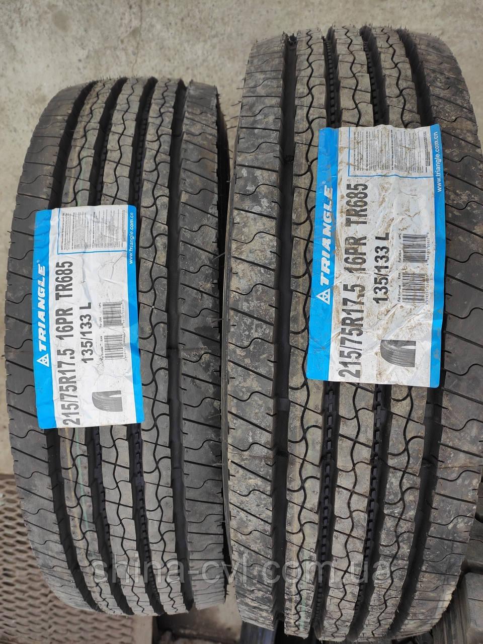 Всесезонні вантажні шини 215/75 R17.5 16PR TRIANGLE TR685 рульова.