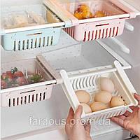 Розсувний пластиковий контейнер для зберігання продуктів і дрібниць. Білий