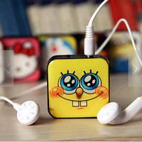 Mp3 плеер Спанч Боб + наушники + кабель + коробка