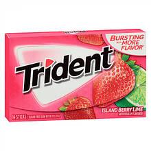 Жевательная резинка Trident Splash Strawberry with Lime Клубника Лайм, 14 шт