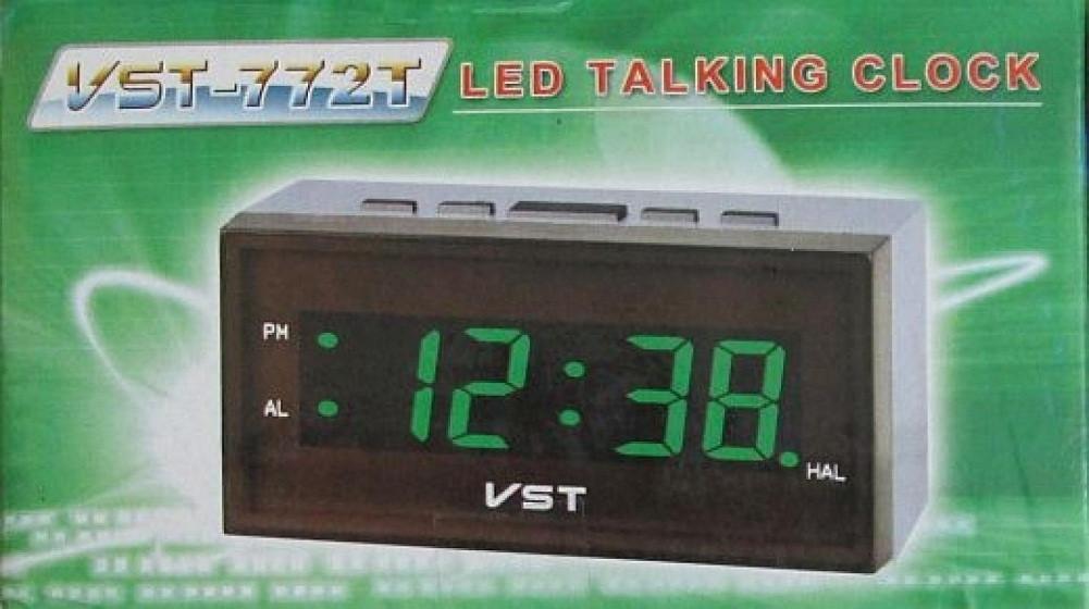 Голосовий годинник з зеленим світлодіодним дисплеєм