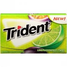Жевательная резинка Trident Trident Lime Passion Fruit Маракуйя Лайм, 14 шт