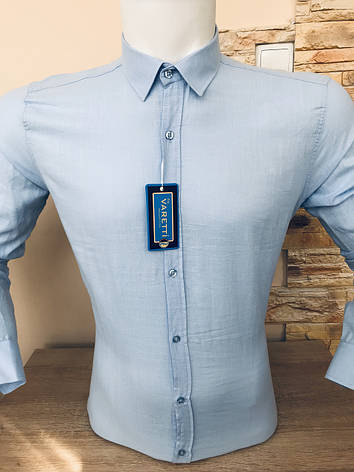 Лляна сорочка довгий рукав Varetti, фото 2