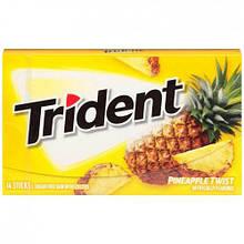 Жевательная резинка Trident  Pineapple Twist Ананас, 14 шт