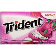 Жевательная резинка Trident Dragon Fruit Lychee Драконий фрукт, 14 шт