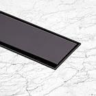 Трап линейный Qtap Dry Tile304-800MBLA с нержавеющей решеткой 800х70, фото 8