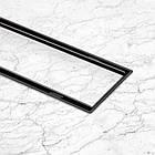 Трап линейный Qtap Dry Tile304-800MBLA с нержавеющей решеткой 800х70, фото 9