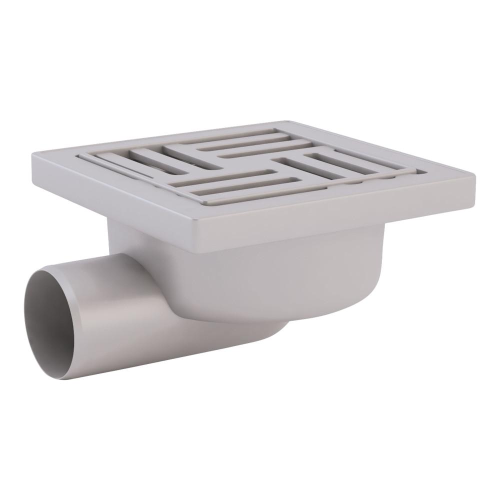 Трап ANI Plast TA5110 горизонтальный с пластиковой решеткой 150х150