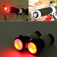 Светодиодные заглушки для велосипедного руля мигалка в руль