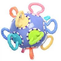 Яркая оригинальная увлекательная развивающая детская погремушка трещетка, отличная игрушка для малышей