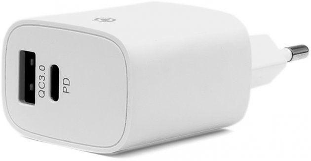 Мережевий зарядний пристрій з підтримкою Quick Charge 3.0 Piko TC-PD182 White