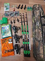 Рыболовный набор, готовые наборы для рыбалки, Наборы для рыбалки, набор спиннинг с катушкой, набор рыбака!