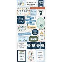 Чіпборд - Phrases - Welcome Baby Boy - Echo Park
