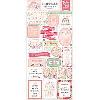 Чіпборд - Phrases - Welcome Baby Girl - Echo Park