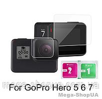 Защитные стекла для GoPro Hero 7,6,5. Защитное стекло для GoPro Hero 7,6,5. Захисне скло для GoPro Hero 7,6,5