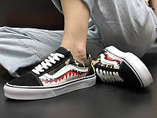 Мужские кеды Vans Old Skool x Bape Custom Shark Camo, фото 2