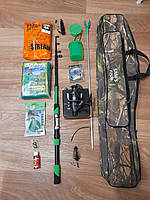 Спиннинг в сборе полный комплект, рыболовные наборы и комплекты для рыбалки, набор для рыбалки для начинающих!