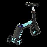 Самокат 3 в 1 Best scooter 20255 (самокат-велобег-велосипед), свет, 8 мелодий, колёса, фото 2