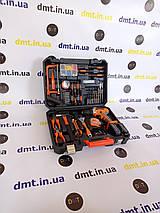Універсальний набір інструментів для монтажу з дрилем-шуруповертом 50 предметів. Хайна 24V, фото 3