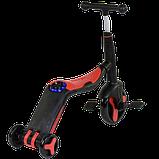 Самокат 3 в 1 Best scooter 28288 (самокат-велобег-велосипед), свет, 8 мелодий, колёса, фото 3
