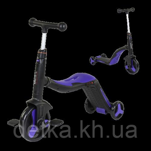 Самокат 3 в 1 Best scooter 30304 (самокат-велобег-велосипед), свет, 8 мелодий, колёса