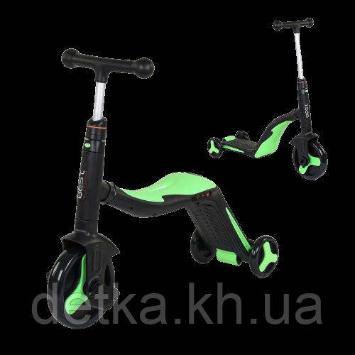 Самокат 3 в 1 Best scooter 40405 (самокат-велобег-велосипед), свет, 8 мелодий, колёса