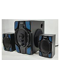 Музыкальный центр для дома 2.1 ZXX 25Вт музыкальные колонки USB/SD/AUX/Bluetooth/FM-радио.