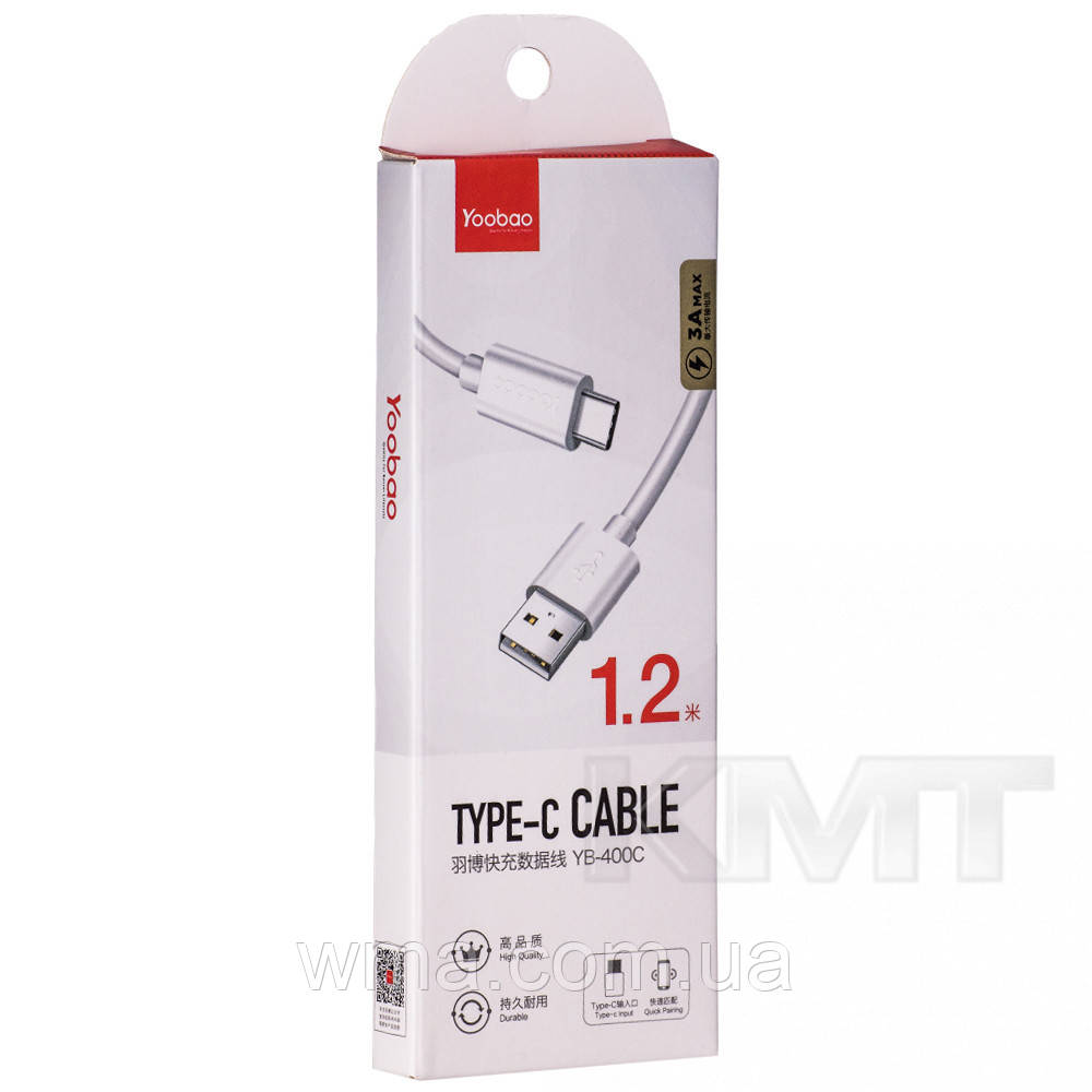 Yoobao (YB400C) Type C USB Cable (2m) White