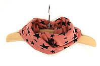 Детский шарфик хомут снуд розовый «Star»