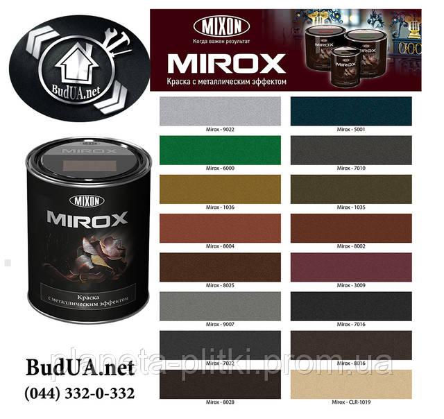Католог кольори фарб Mixon Mirox з металевим ефектом. (044) 332-0-332