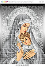 БСР 3339 Мадонна с младенцем (серебро). Схема для вышивания бисером